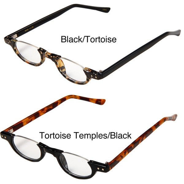 Tortoise Shell Glasses Half Frame : mens tortoise shell half reading glasses Wrap Yourself Thin