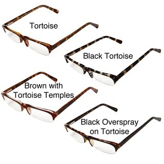 Hot Optix Men's Fashion Semi Rimless Reading Glasses