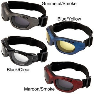 Hot Optix One-size Adjustable-strap Dual-vented Motorcycle Goggles