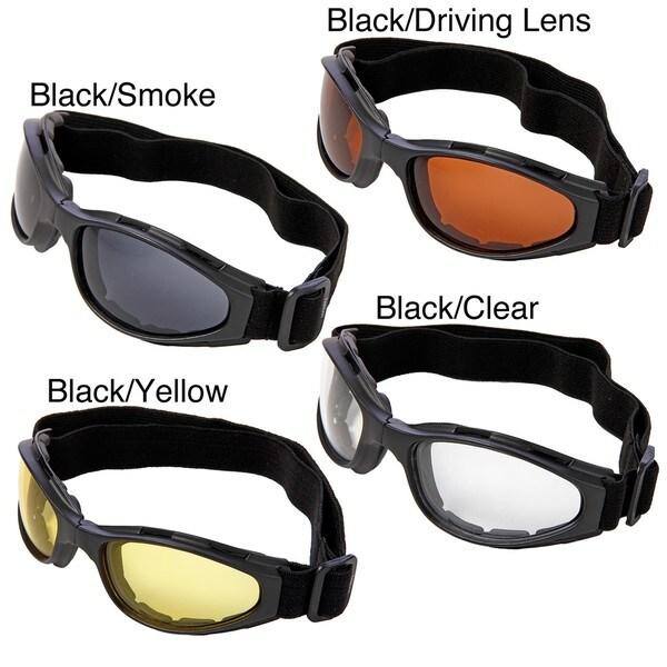 Hot Optix Dual Lens Folding Motorcycle Goggles