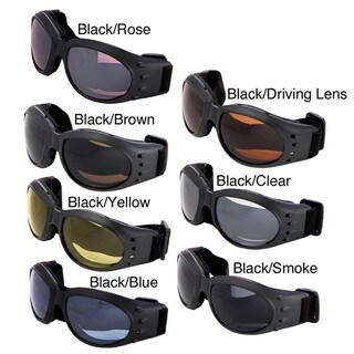 Hot Optix Polycarbonate Dual Lens Classic Motorcycle Goggles