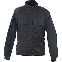 Mossi RX-1 Black Polyester Lightweight Rain Jacket with Hideaway Hood