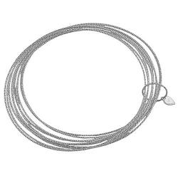 Fremada Rhodiumplated Silver Diamond-cut Set of 10 Slip-on Bangles
