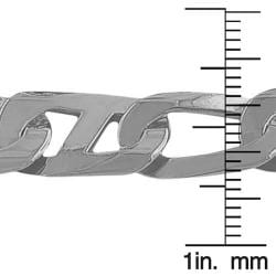 Fremada Rhodium-plated Sterling Silver Men's Fancy Mariner Link Bracelet (8.5-inch)