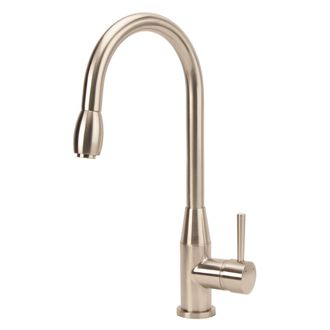 Modern High Arc Pull Down Brushed Nickel Faucet