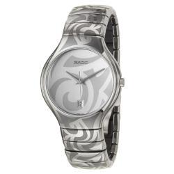 Rado Men's 'Rado True' Ceramic Quartz Watch with Silver Dial