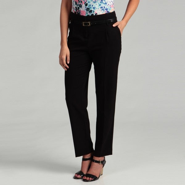 Calvin Klein Women's Black Belted Trousers