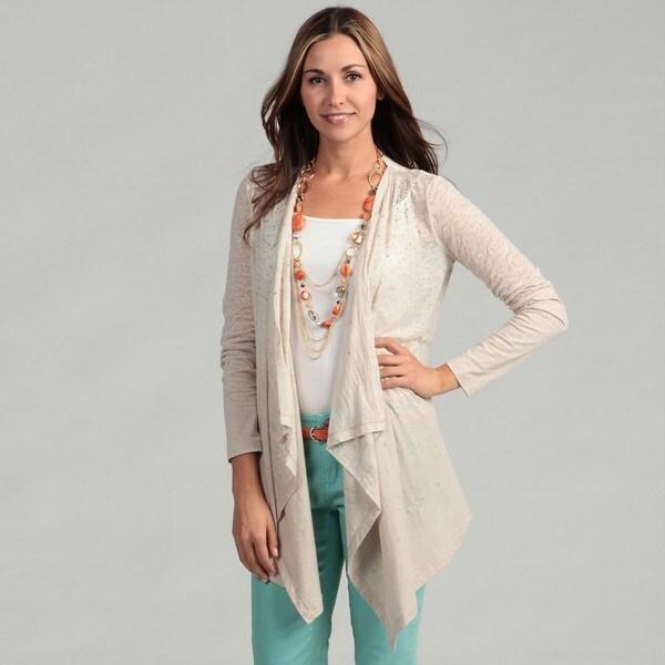 Calvin Klein Women's Long Sleeve Burnout Sweater