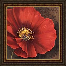 Jordan Gray 'Rouge Poppies I' Framed Print