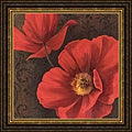 Jordan Gray 'Rouge Poppies II' Framed Print