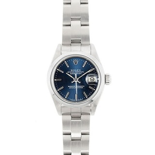 Pre-Owned Rolex Women's Datejust Stainless Steel Blue Dial Watch