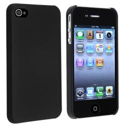 Black Snap-on Rubber Coated Case for Apple iPhone 4/ 4S