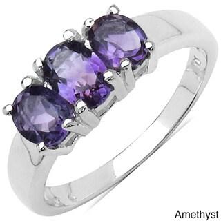 Malaika Sterling Silver Gemstone Women's Fashion Ring