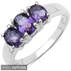 Malaika Sterling Silver Gemstone Women's Fashion Ring