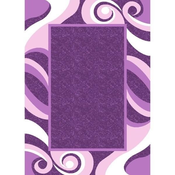 Wesley Purple Carved Rug (7'10 x 9'10)
