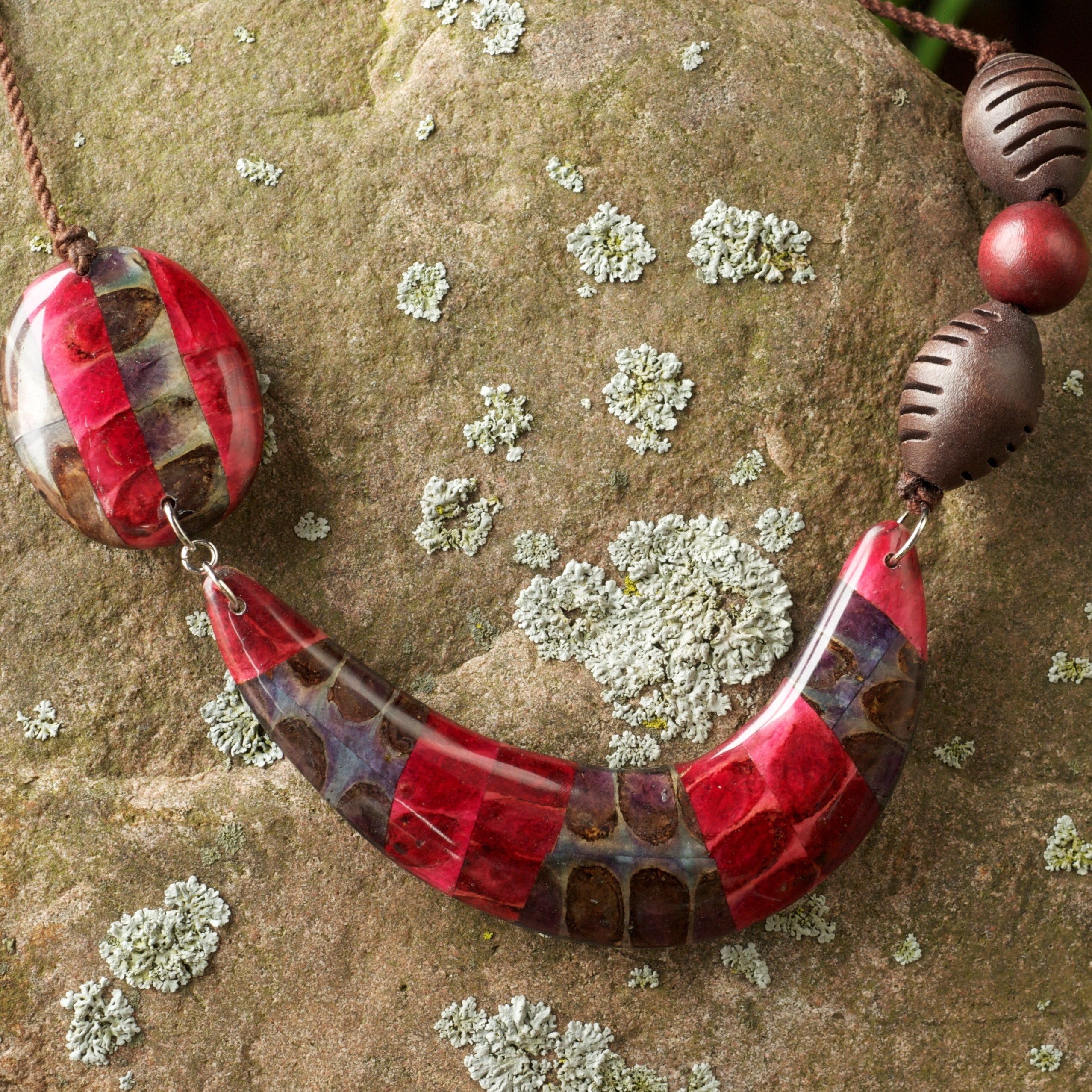 Ipil Leaves Resin-backed Pendant Necklace (Philippines)