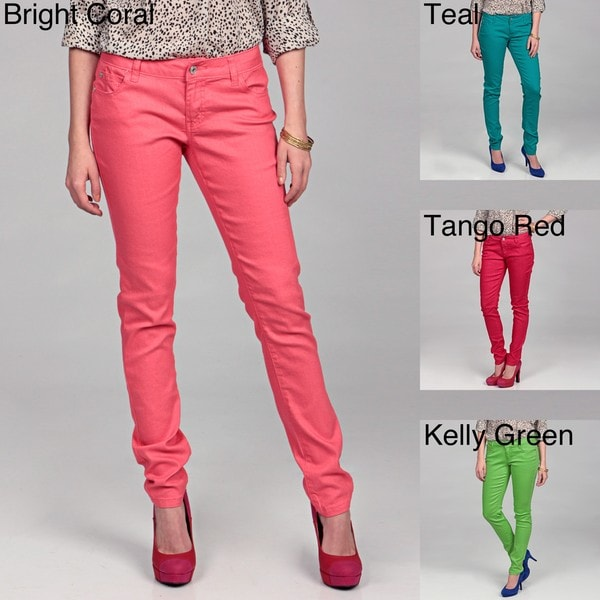 Celebrity Pink Junior's Curvy Stretch Colored Denim Jeans