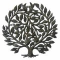 Recycled Steel Tree of Life 'Lover's Heart' Wall Art (Haiti)