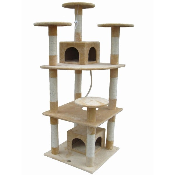 Go Pet Club Faux-Fur Cat Tower