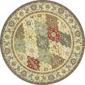 Dorchester Red/ Green Rug (5'2 Round)