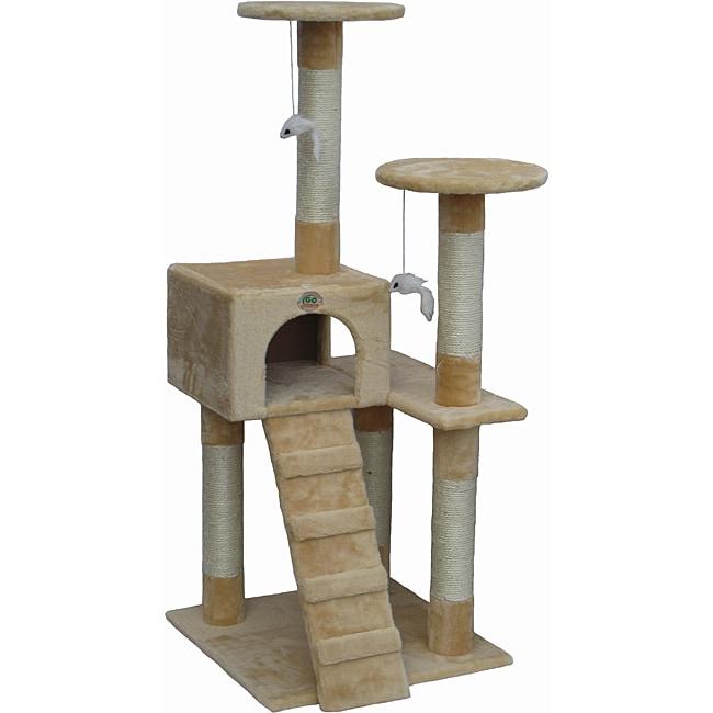 Go Pet Club Beige Cat Tree Furniture