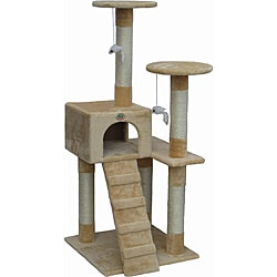 Go Pet Club Beige Cat Tree Furniture