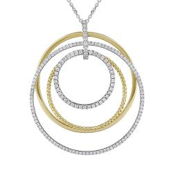 Miadora 14k Two-tone Gold 1ct TDW Diamond Necklace (G-H, SI1-SI2)