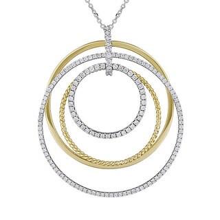 Miadora Signature Collection 14k Two-tone Gold 1ct TDW Diamond Necklace (G-H, SI1-SI2)