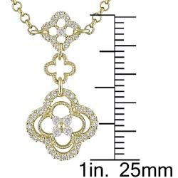 Miadora 14k Yellow Gold 1 1/3ct TDW Diamond Necklace (G-H, SI1-SI2)