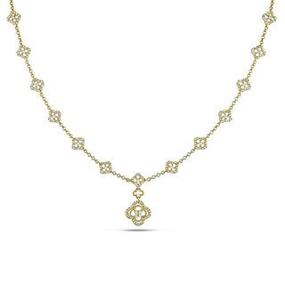 Miadora 14k Yellow Gold 1 1/3ct TDW Diamond Necklace (G-H, SI1-SI2)