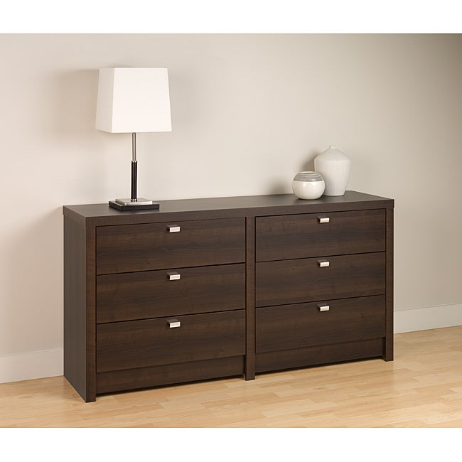 Espresso 6 Drawer Dresser Chest Bedroom Bed Room Wood