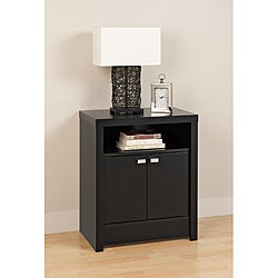 Valhalla Designer Series Black 2-Door Nightstand
