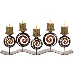 Mediterranean Bella Artisan Swirl Candle Holder