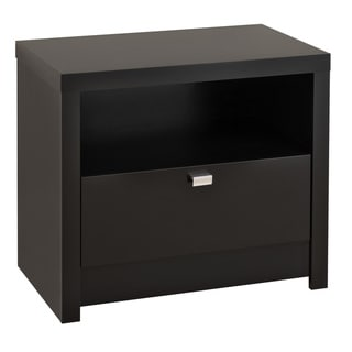 Valhalla Designer Series Black 1-Drawer Nightstand