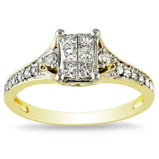 Miadora 10k Yellow Gold 1/2ct TDW Diamond Ring (G-H, I1-I2)