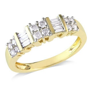 Miadora 14k Yellow Gold 1/2ct TDW Diamond Ring (G-H, I2-I3)
