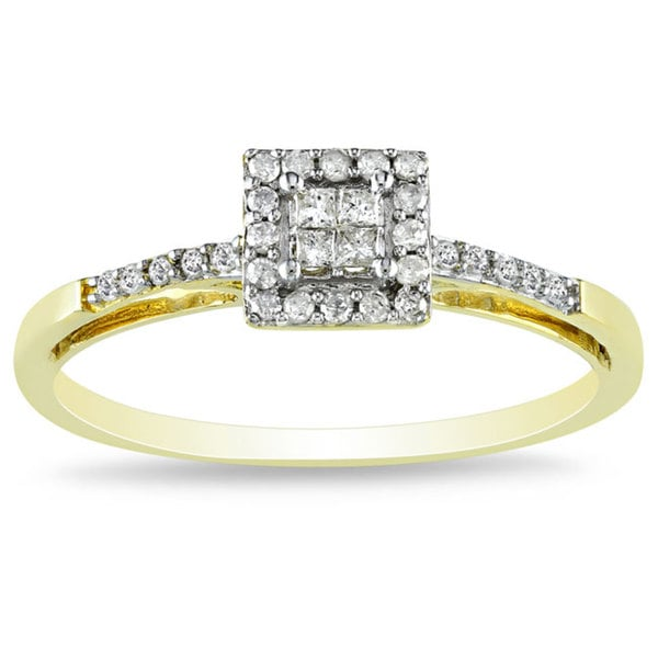 Miadora 10k Yellow Gold 1/5ct TDW Diamond Ring (G-H, I2-I3)