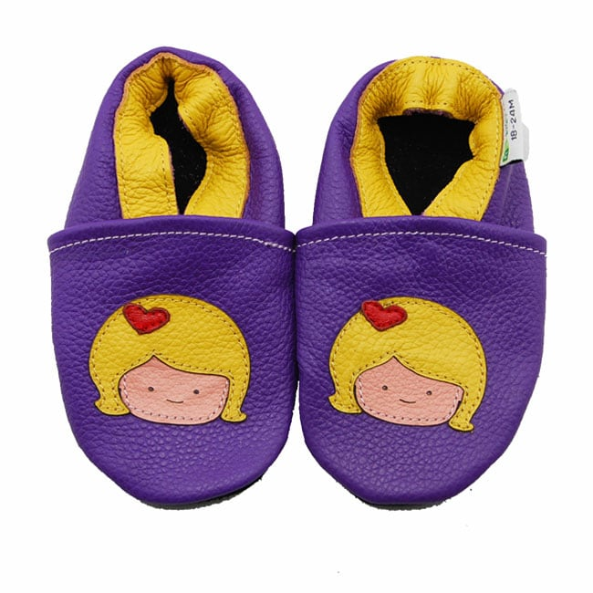 Little Lady Purple Soft Sole Leather Baby Shoes