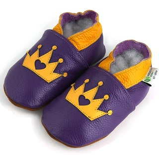 Gold Crown Soft Sole Leather Baby Shoes
