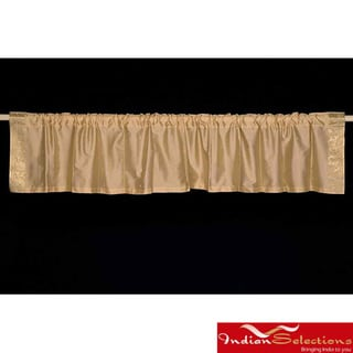 Golden Sari Fabric Decorative Valances (India) (Pack of 2)