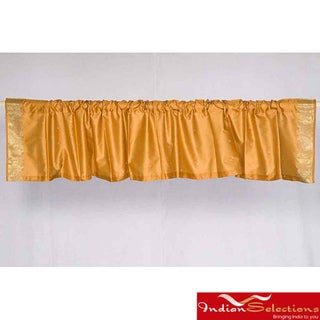 Pumpkin Sari Fabric Decorative Valances (India) (Pack of 2)