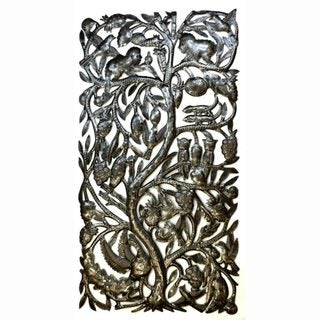 Recycled Steel 'Jungle Tree' Wall Art (Haiti)