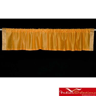 Mustard Sari Fabric Decorative Valances (India) (Pack of 2)