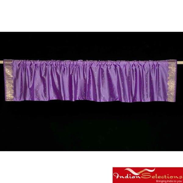 Lavender Sari Fabric Decorative Valances (India) (Pack of 2)