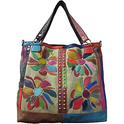Amerileather Rosalie Leather Tote Bag