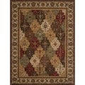 Dorchester Beige/ Multi-colored Powerloomed Rug (9'8 x 12'8)