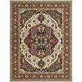 Dorchester Beige/ Rust Powerloomed Rug (9'8 x 12'8)