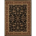 Dorchester Black/ Rust Powerloomed Rug (9'8 x 12'8)
