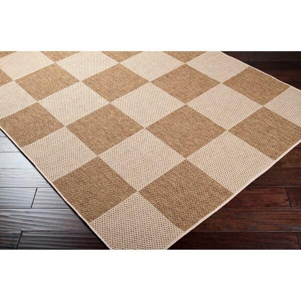 Checkerboard Rug: Woven Alagnak Indoor/Outdoor Checkerboard Rug (7'10 X 11'1
