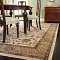 Dorchester Beige/ Green Powerloomed Rug (9'8 x 12'8)